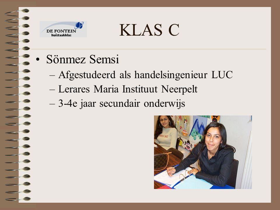 KLAS C Sönmez Semsi Afgestudeerd als handelsingenieur LUC