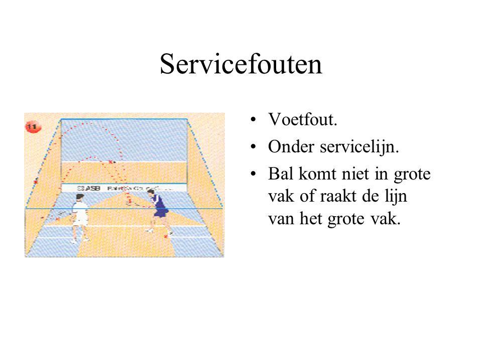 Servicefouten Voetfout. Onder servicelijn.