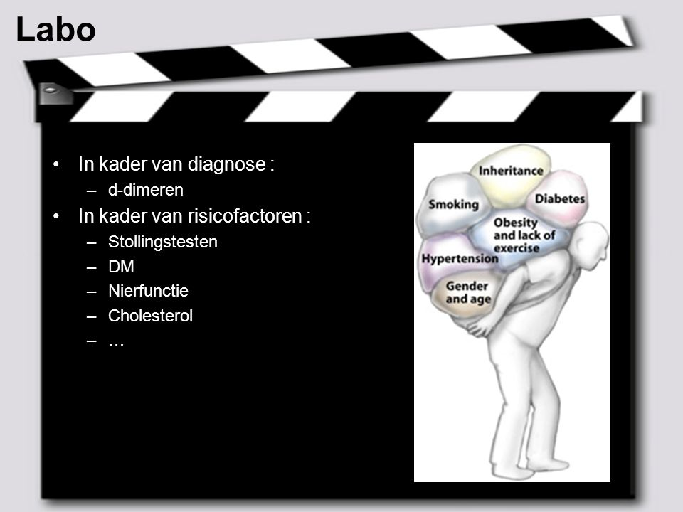 Labo In kader van diagnose : In kader van risicofactoren : d-dimeren