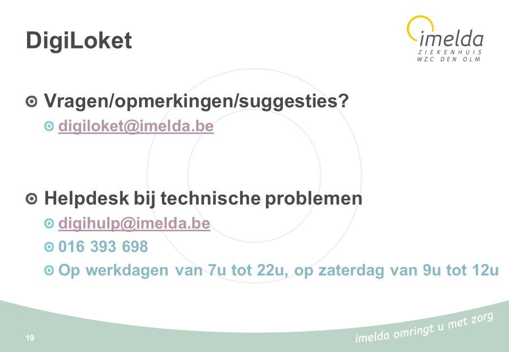 DigiLoket Vragen/opmerkingen/suggesties