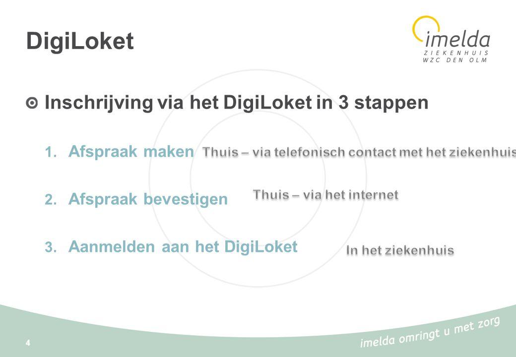 DigiLoket Inschrijving via het DigiLoket in 3 stappen Afspraak maken