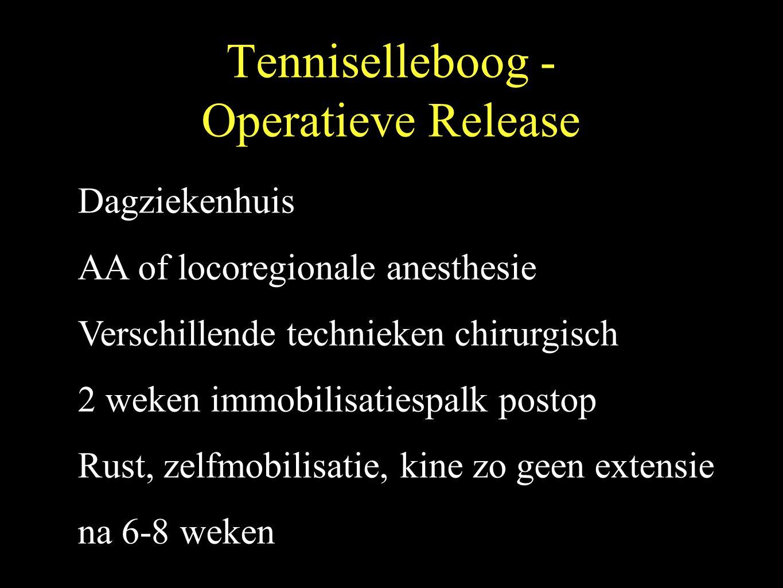 Tenniselleboog - Operatieve Release