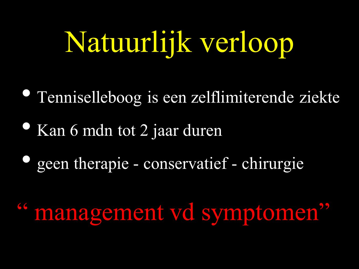 management vd symptomen