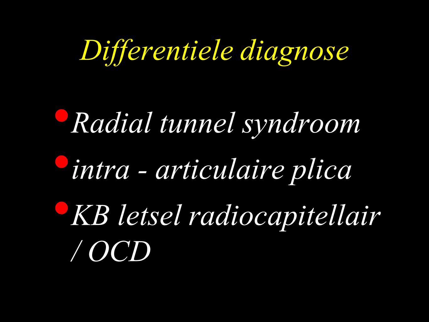 Differentiele diagnose