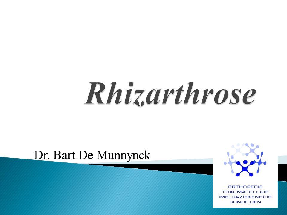Rhizarthrose Dr. Bart De Munnynck