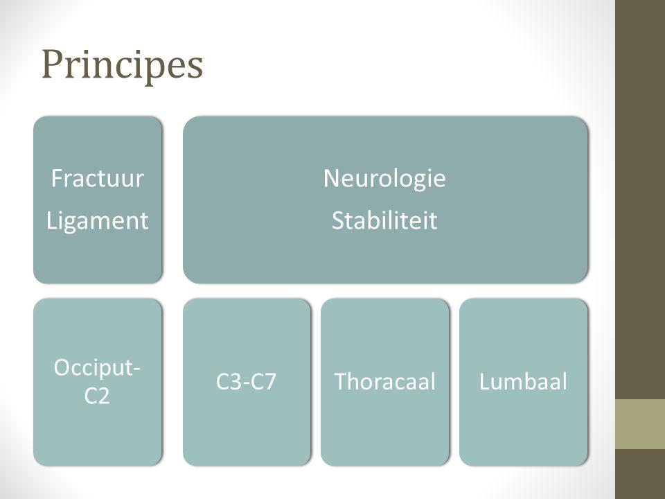 Principes Fractuur Ligament Neurologie Stabiliteit Occiput-C2 C3-C7