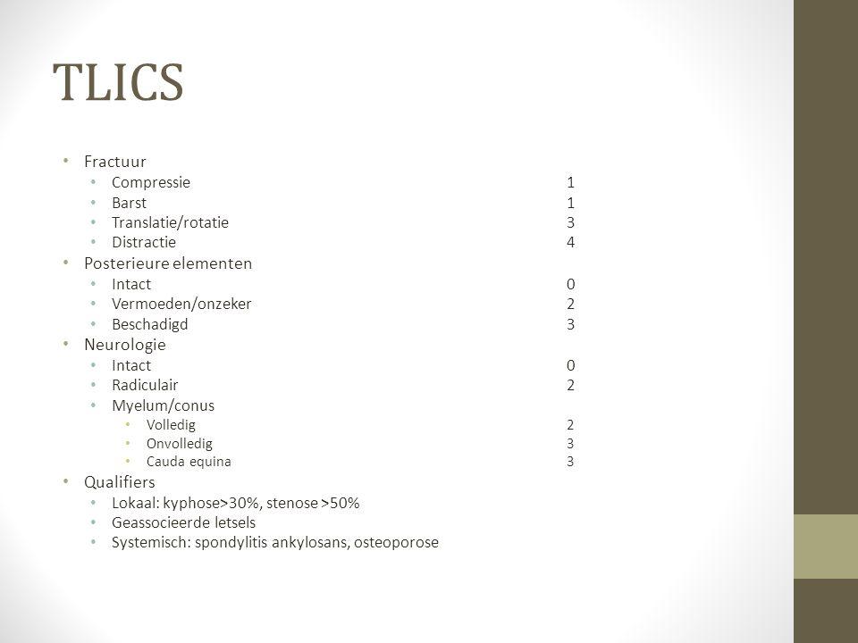 TLICS Fractuur Posterieure elementen Neurologie Qualifiers