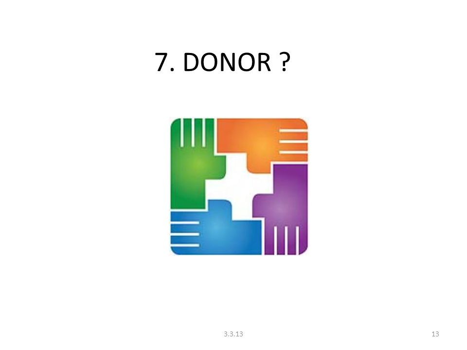 7. DONOR 3.3.13