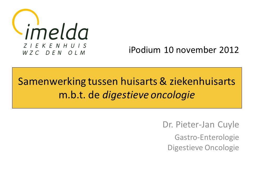 Dr. Pieter-Jan Cuyle Gastro-Enterologie Digestieve Oncologie