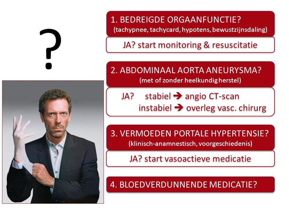 1. BEDREIGDE ORGAANFUNCTIE JA start monitoring & resuscitatie