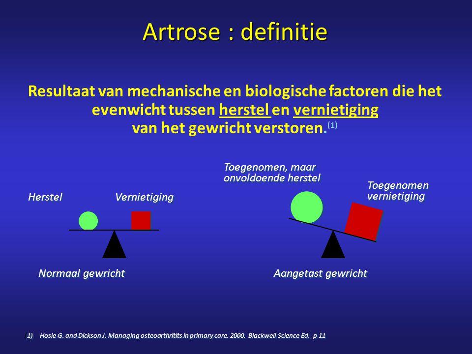 Artrose : definitie