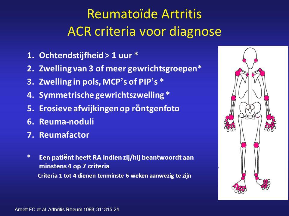Reumatoïde Artritis ACR criteria voor diagnose