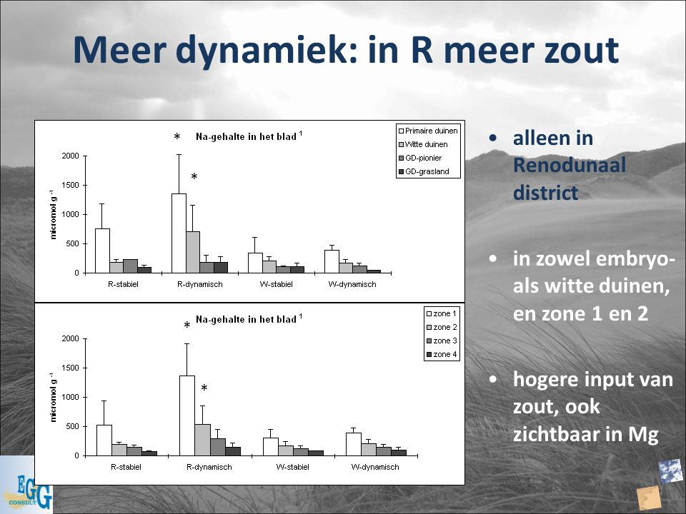 Meer dynamiek: in R meer zout