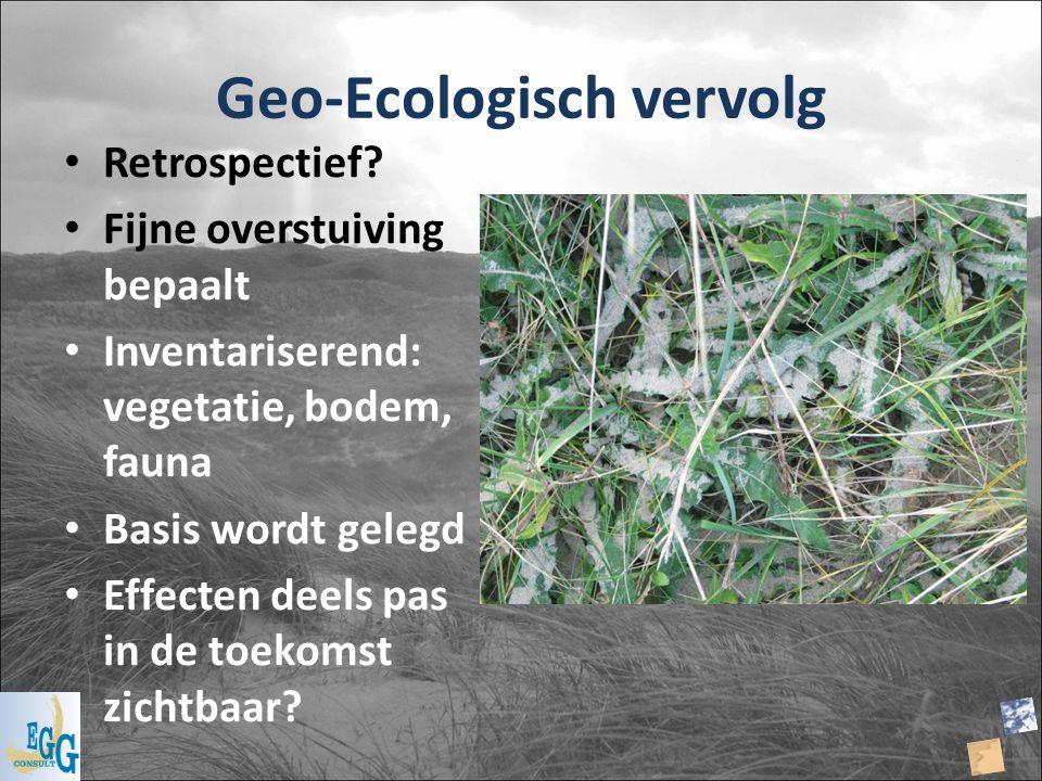 Geo-Ecologisch vervolg