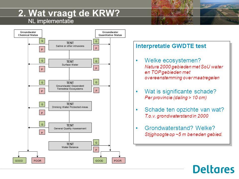 2. Wat vraagt de KRW NL implementatie Interpretatie GWDTE test
