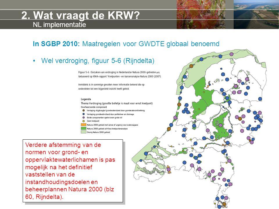 2. Wat vraagt de KRW NL implementatie