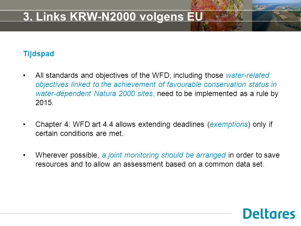 3. Links KRW-N2000 volgens EU Tijdspad