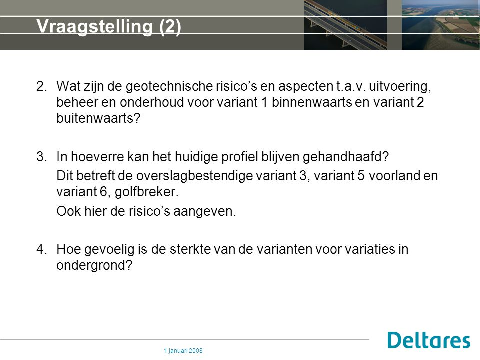 Vraagstelling (2)