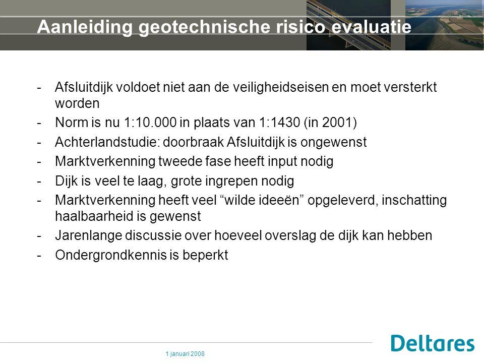 Aanleiding geotechnische risico evaluatie