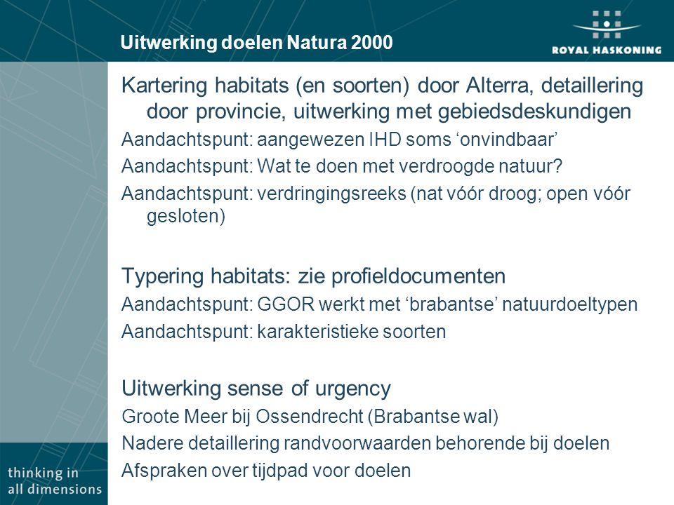 Uitwerking doelen Natura 2000
