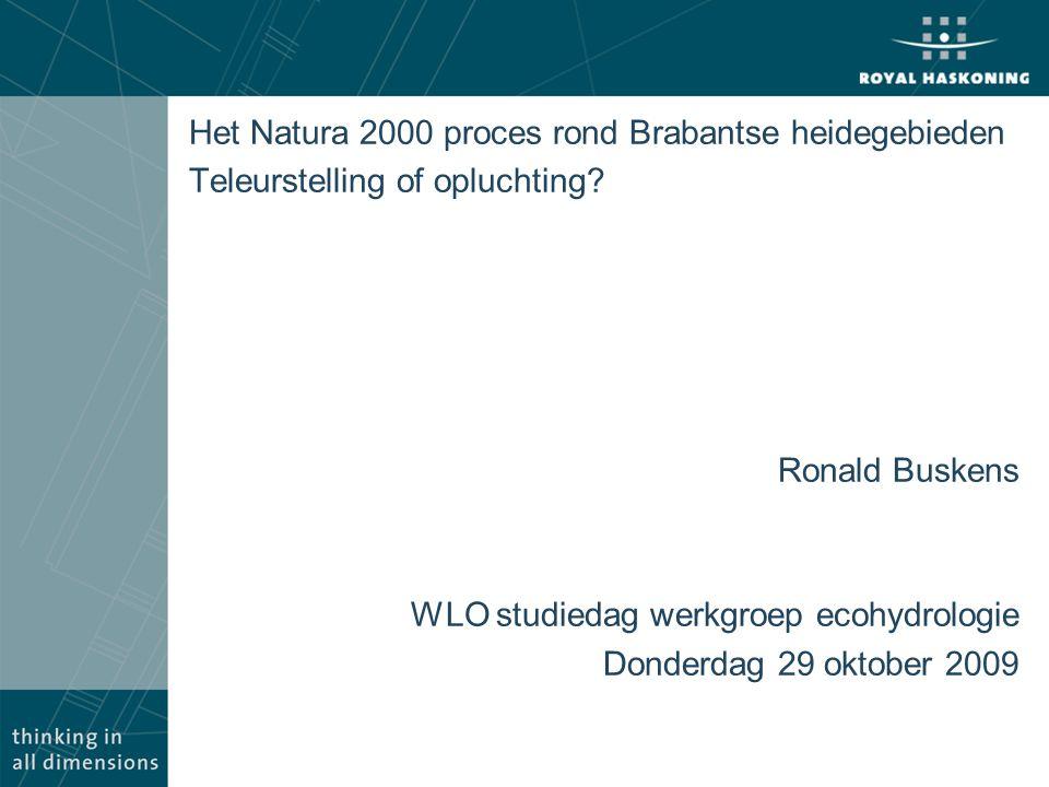 Het Natura 2000 proces rond Brabantse heidegebieden