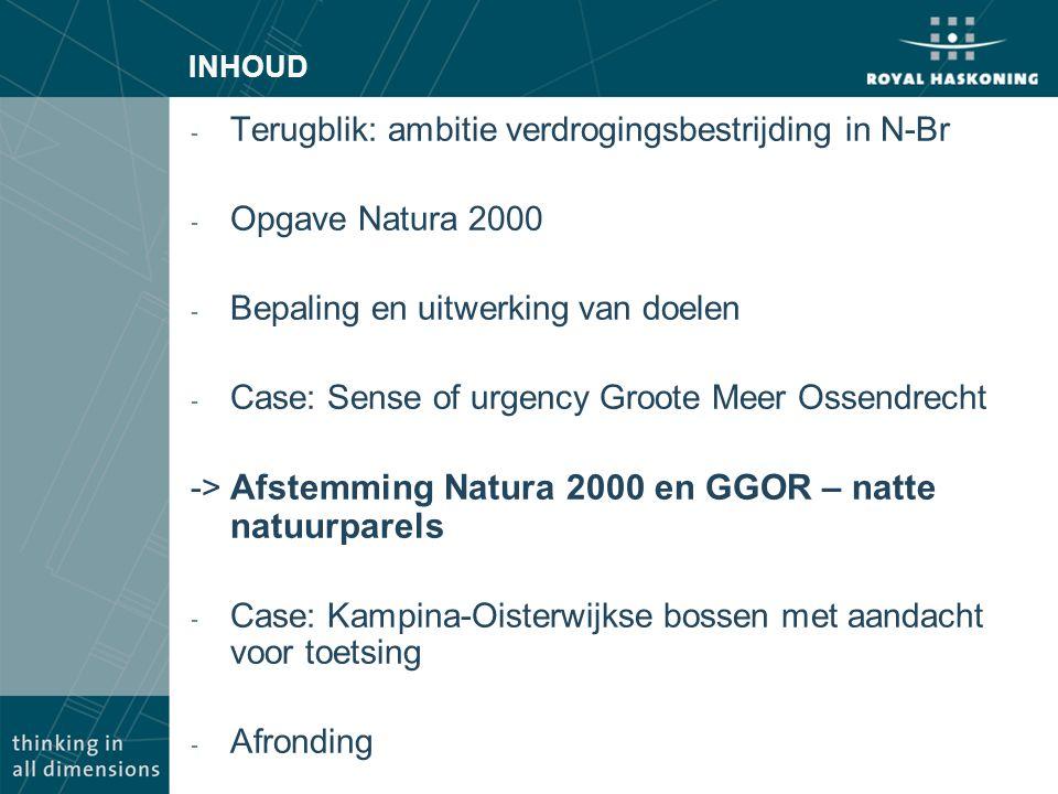 Terugblik: ambitie verdrogingsbestrijding in N-Br Opgave Natura 2000