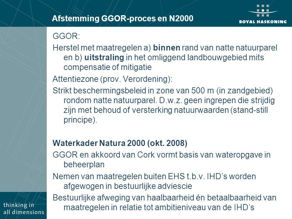 Afstemming GGOR-proces en N2000