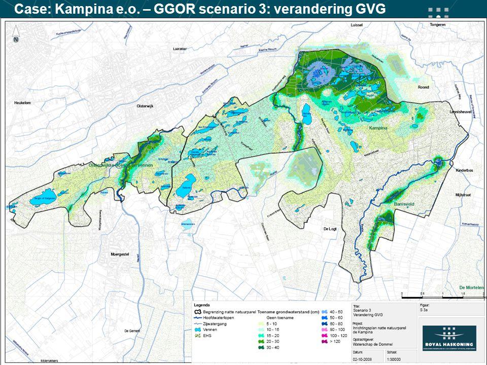 Case: Kampina e.o. – GGOR scenario 3: verandering GVG