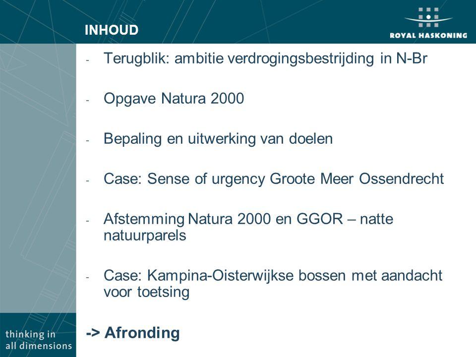 -> Afronding Terugblik: ambitie verdrogingsbestrijding in N-Br