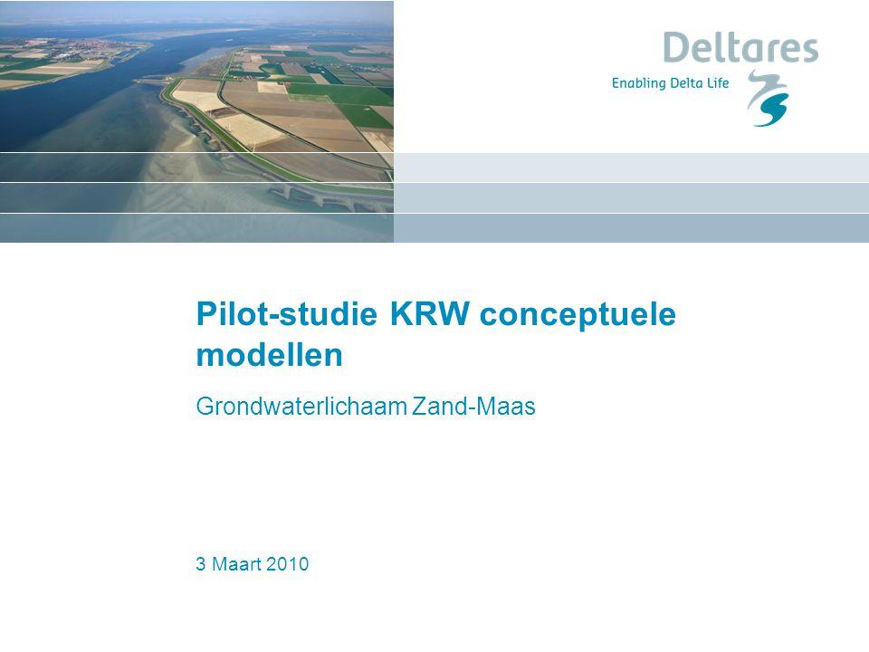 Pilot-studie KRW conceptuele modellen