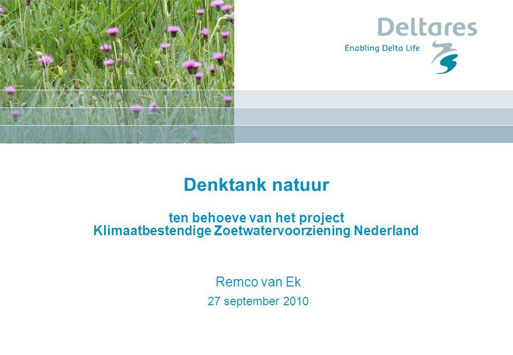 Denktank natuur ten behoeve van het project Klimaatbestendige Zoetwatervoorziening Nederland