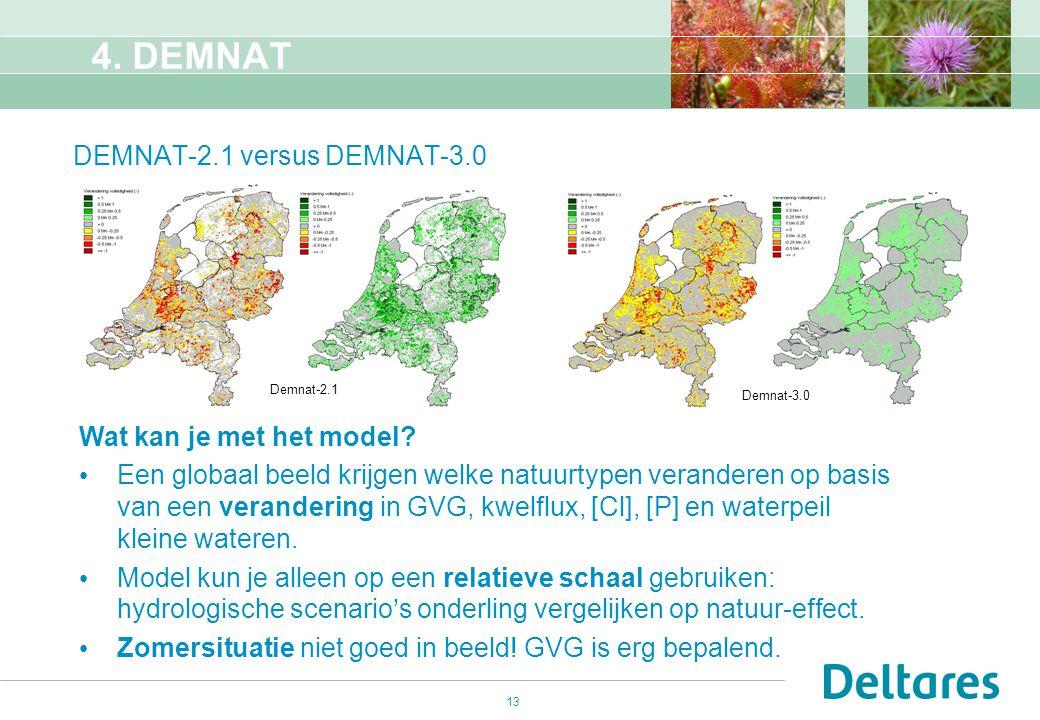 4. DEMNAT DEMNAT-2.1 versus DEMNAT-3.0 Wat kan je met het model