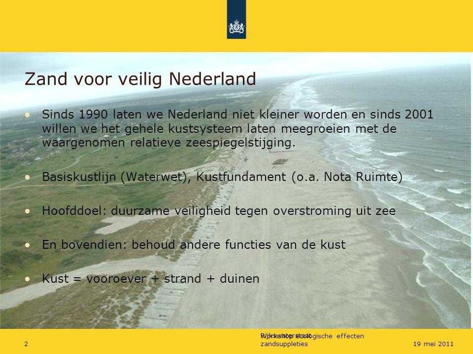 Zand voor veilig Nederland