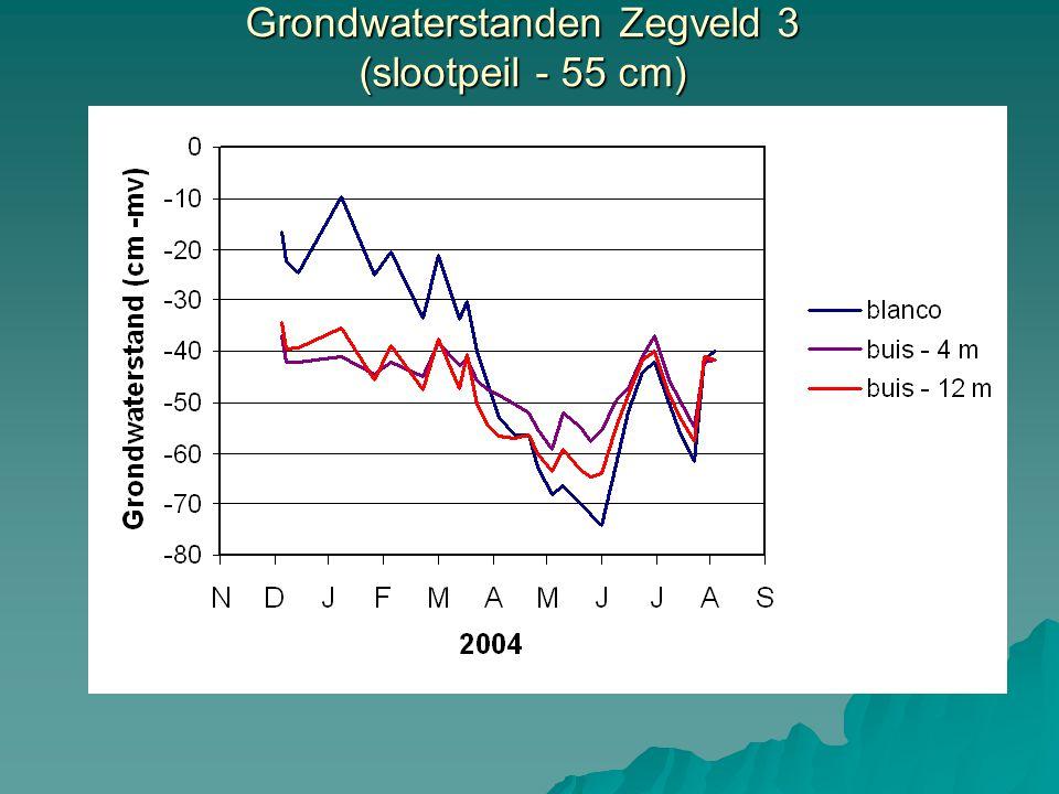 Grondwaterstanden Zegveld 3 (slootpeil - 55 cm)