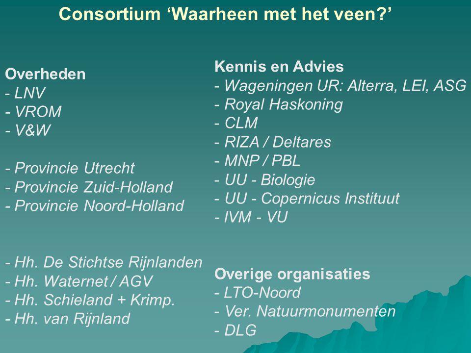 Consortium 'Waarheen met het veen '