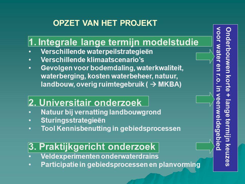 1. Integrale lange termijn modelstudie