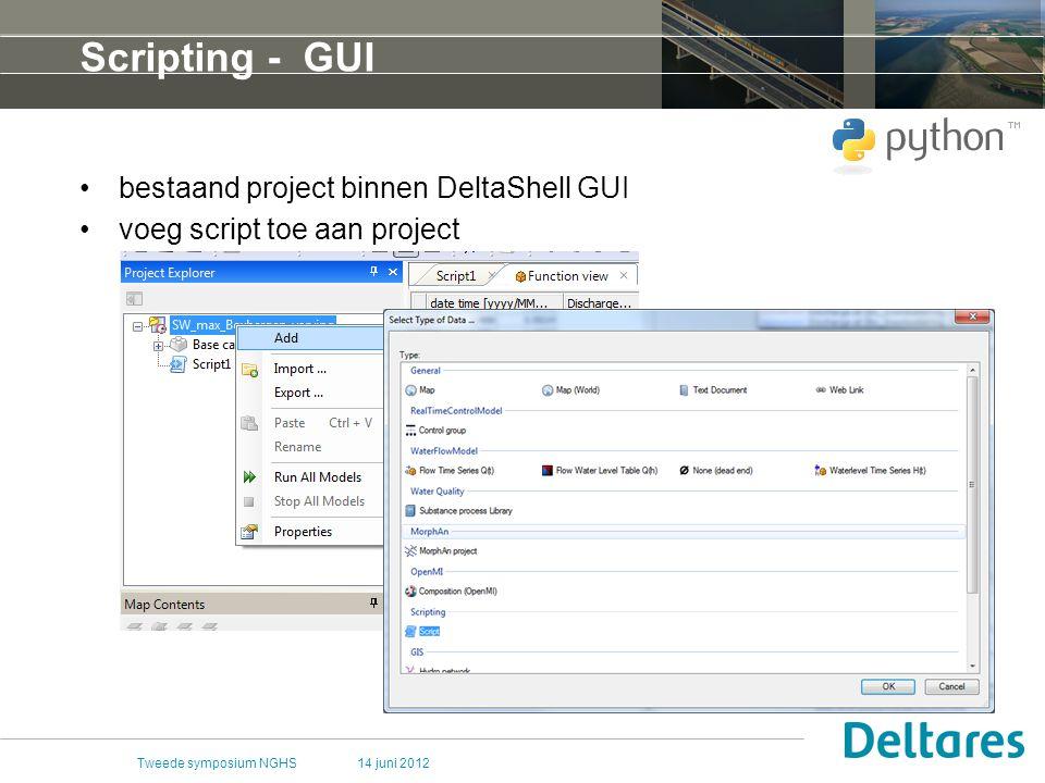 Scripting - GUI bestaand project binnen DeltaShell GUI