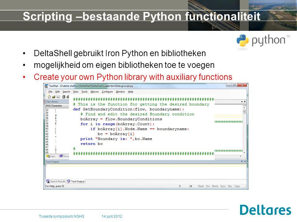 Scripting –bestaande Python functionaliteit