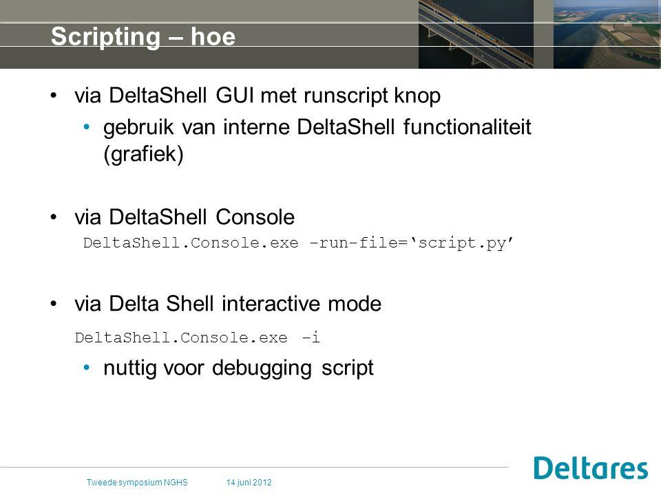 Scripting – hoe via DeltaShell GUI met runscript knop