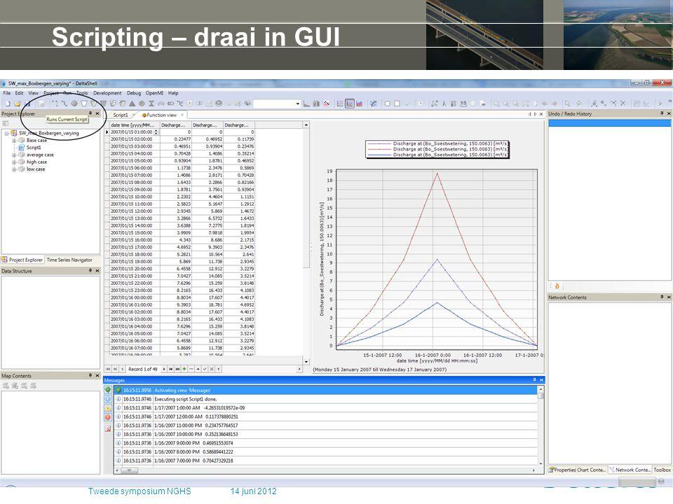 Scripting – draai in GUI