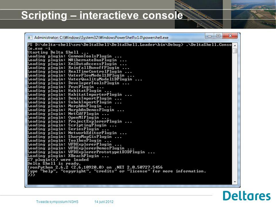 Scripting – interactieve console