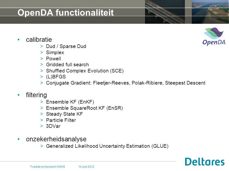 OpenDA functionaliteit