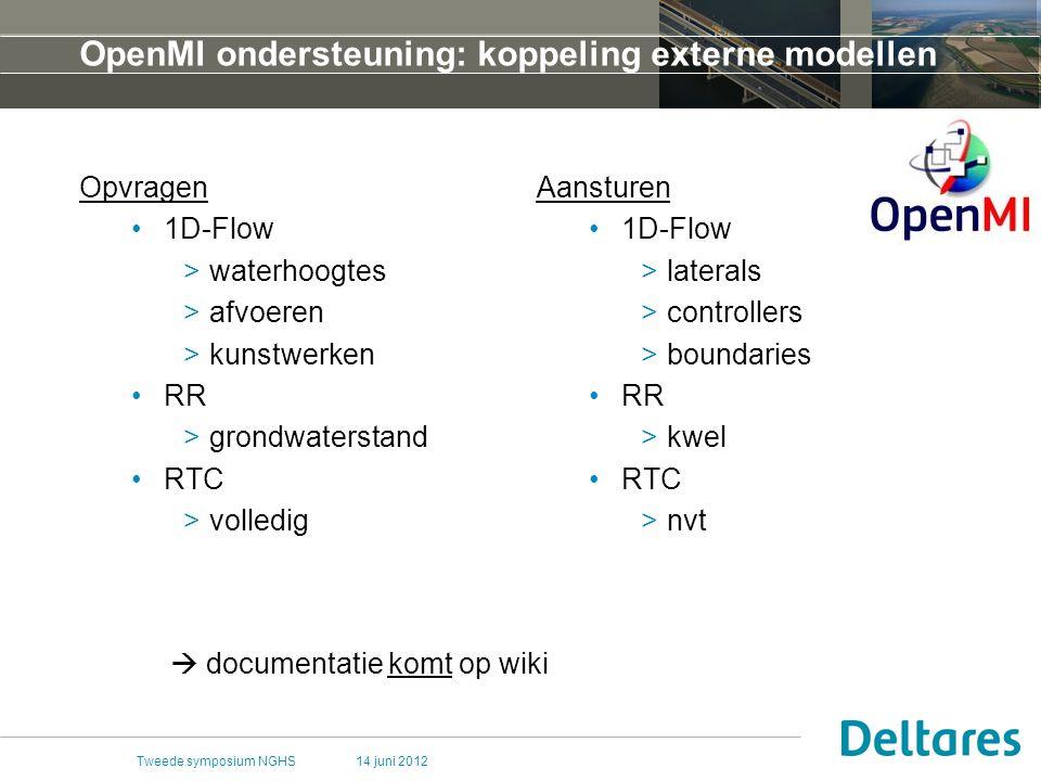 OpenMI ondersteuning: koppeling externe modellen