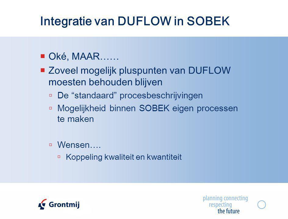 Integratie van DUFLOW in SOBEK
