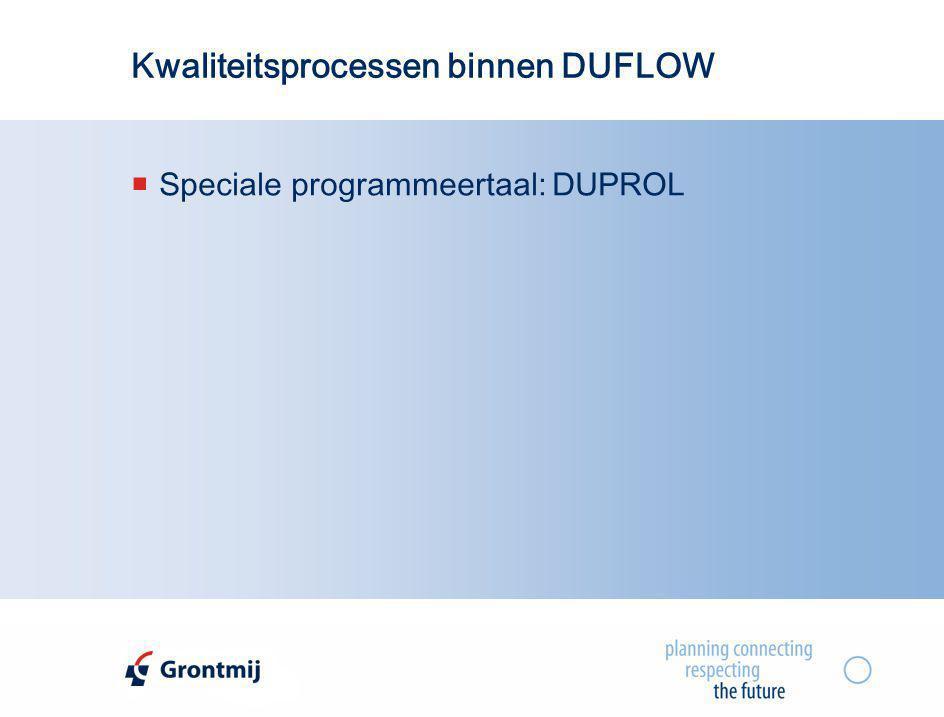 Kwaliteitsprocessen binnen DUFLOW