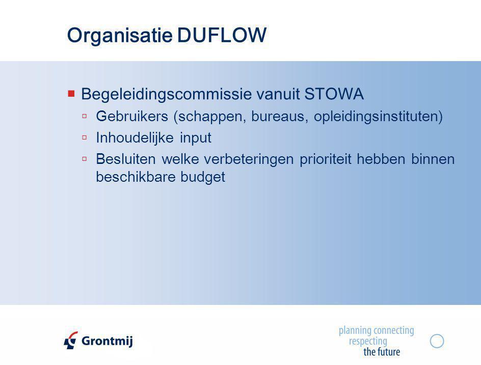 Organisatie DUFLOW Begeleidingscommissie vanuit STOWA