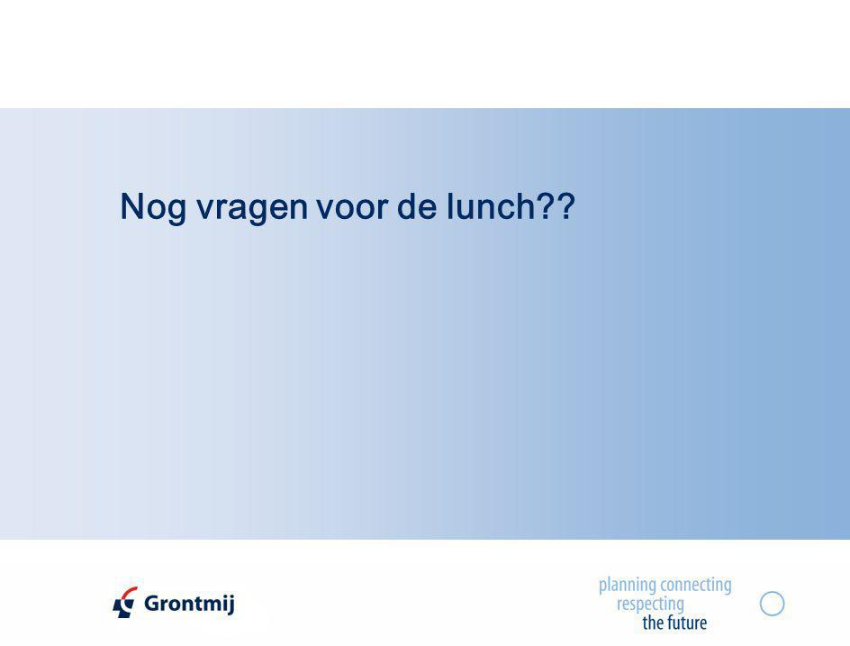 Nog vragen voor de lunch