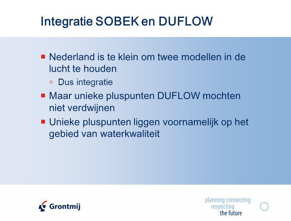 Integratie SOBEK en DUFLOW