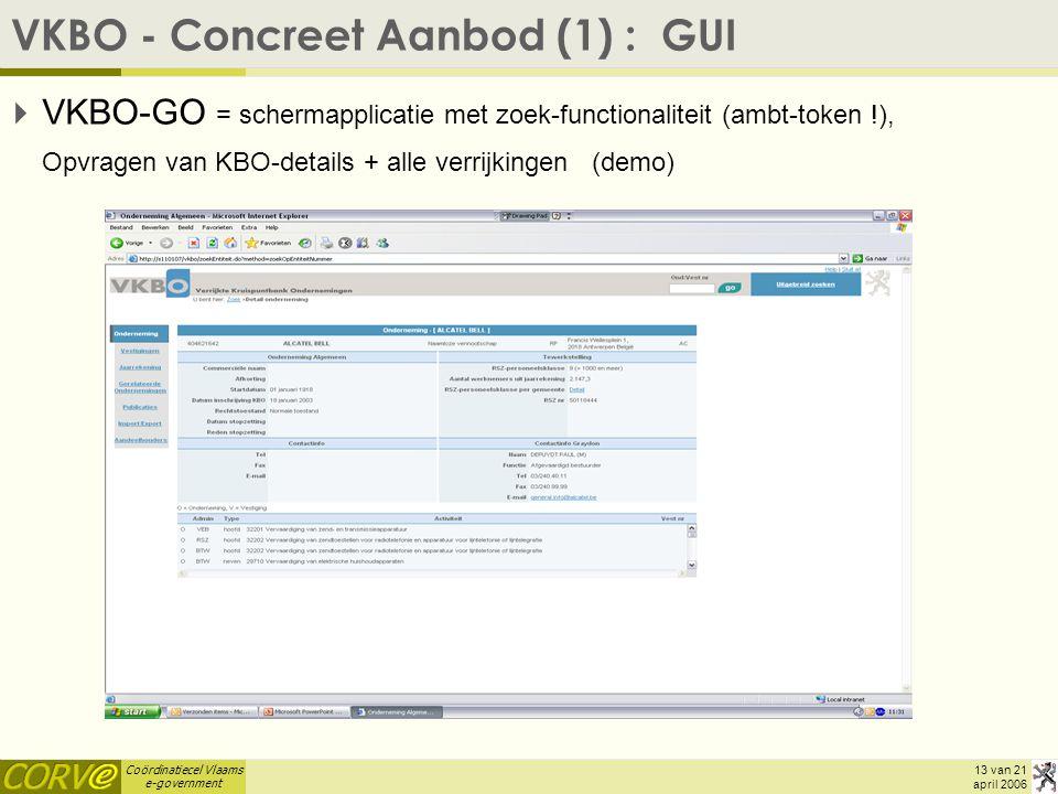 VKBO - Concreet Aanbod (1) : GUI