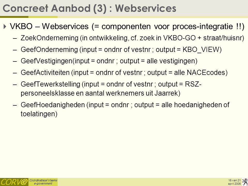 Concreet Aanbod (3) : Webservices